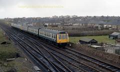 Falkland 107437 early 80's c664 (Ernies Railway Archive) Tags: ayr falklandyard gswr lms scotrail