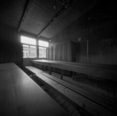 Despair #1 (Andrew Bartram (WarboysSnapper)) Tags: sachenhausen camp concentrationcamp pinhole ilford hp5 despair id11developer