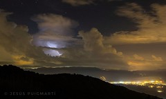 Stormy night. (ChusPS) Tags: color light lights night storm lightning clouds weather nikon tokina photo photographer photography picture manfrotto landscape scenery views mediterrani mediterranean catalonia catalunya barcelona vallèsoriental fogarsdemontclús montseny unesco unescomab summer
