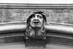 Even Gargoyle had Hoodies (WorcesterBarry) Tags: blackwhite bnw lovebw architecture art buildings gargoyles street streetphotography streetphoto places photographers candid england city bricks decay travel guys outdoors old ~monochrome~ mist