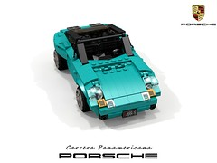 Porsche Carrera Panamericana Concept - 1989 (lego911) Tags: carrera porsche panamericana concept 1989 1980s convertible dunebuggy dune buggy offroad 80th birthday present ferdinand boxer german germany auto car moc model miniland lego lego911 ldd render cad povray