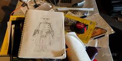 2018 Buskers in the Burg, Workshop (Dennis Valente) Tags: 2018 5dsr usa washington art giantpuppet workshop buskersintheburg drawing design evilscientist pnw ellensburg puppetry puppet