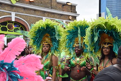DSC_8182 Notting Hill Caribbean Carnival London Exotic Colourful Green and Turquoise Costume with Ostrich Feather Headdress Girls Dancing Showgirl Performers Aug 27 2018 Stunning Ladies (photographer695) Tags: notting hill caribbean carnival london exotic colourful costume girls dancing showgirl performers aug 27 2018 stunning ladies green turquoise with ostrich feather headdress