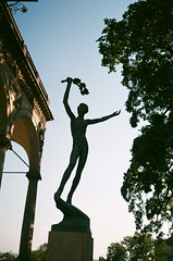 Statue in Prague (zuziawie) Tags: minolta himatic g 35mm 35 analog analogue film park statue europe shadow body