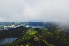 Miradouro da Boca do Inferno (photographybyjoss ↟↟) Tags: europe mist lakeandmist miradourodabocadoinferno azores sãomiguel saomiguel view fog clouds fromthetop landscape landschaft nature green canon c canoneos5dmarkiii outside
