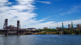 Beautiful Portland Oregon, under construction