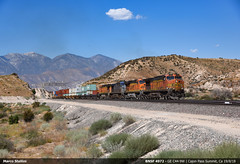 Cajon Pass Summit! (Marco Stellini) Tags: bnsf rr usa california cajon pass ge general electric dash 9 c449w