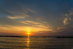 Sea Sunset (Slav.Burn) Tags: sea seaside balticsea sunset sunsetbeauty sunsetlight summertime summer pentax pentaxart tamron1750 holiday sky skylights skycolors sun setting