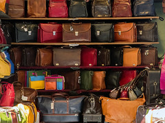 Tuscany026 (AlanOrganLRPS) Tags: leather firenze italy italian stall bags market florence