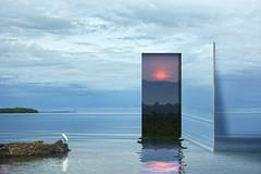 In Door And Out Door (roijoy) Tags: portal doorway 9860 sea sunset surreal sky