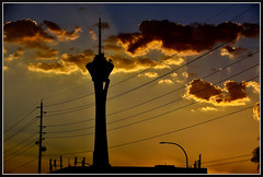 BackaBit (VegasBnR) Tags: telegragh vegas sunset vegasbnr strat lines clouds