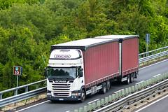 Scania G410 Streamline / Zanchin (I) (almostkenny) Tags: lkw truck camion ciężarówka scania g410 streamline zanchin i italia italy et541zz drawbar tandem