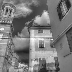 New and old. Mahon. Menorca (russellfenton) Tags: architecture blacknwhite menorca mahon