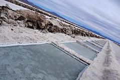 salina grande (jujuy province, argentina) (bloodybee) Tags: salinas salt saltpan landscape argentina jujuy salta southamerica americalatina sky pond mountains andes