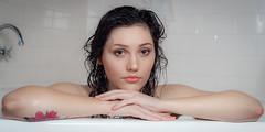 Vanessa (Kotchka) Tags: artnude bath bathing bathroom bubbles cottage flash indoor indoors location model naked nude portrait brunette
