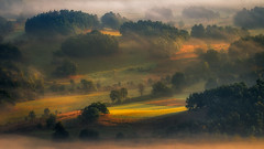 Wait for the Sun to Reach the Angle.... (Bonnie And Clyde Creative Images) Tags: landscapes poland europe summer canon morning sunrise