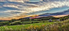 8R9A2844-46PRtzl1TBbLGERk (ultravivid imaging) Tags: ultravividimaging ultra vivid imaging ultravivid colorful canon canon5dm3 clouds fields farm barn trees twilight sunset scenic sky summer sunsetclouds vista flowers pennsylvania pa panoramic landscape rural