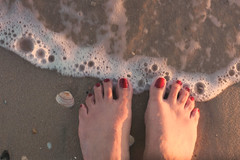 Spring tide (alideniese) Tags: smileonsaturday happyfeet feet toes beach shore sand shells water sea tide selfie lookingdown nailpolish alideniese coastal shoreline sunshine sunny light shadow eveningsun sunset warm colour daylight sundown sidelighting shotfromabove