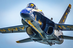 How Close Do You Need to Get?? (Brad Hartig) Tags: lt tylerdavies cleveland airshow ohio blueangels navy us usa fa18 hornet jet military america nikon coseup sky pilot fast
