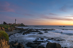 Took The Long Way Home. (Dancing.With.Wolves) Tags: lighthouse light coast sunset water rocks point sea tide pools cove harbor colors nature 2017 2018 california