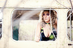 Leah (Ray Akey - Photographer) Tags: leah collaboration shoot graveyard bus woman female girl blonde pretty