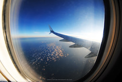 Cruising Altitude (Infinity & Beyond Photography) Tags: alaska airlines cabin window seat view 8mm samyang fisheye lens wing winglet clouds sky aircrat airplane airliner boeing 737 b737 737900 cruising altitude planes photography photos images