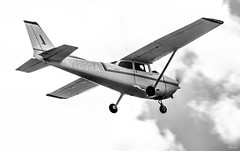 up and over... (Stu Bo) Tags: aircraft airplane plane flight sky clouds blackandwhite bw bnw