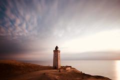 Rubjerg Knude (kuestenkind) Tags: dänemark denmark danmark rubjergknude leuchtturm fyr lighthouse beach dune düne langzeitbelichtung longexposure sunset