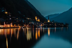 Sleeping Village of Hallstatt, Austria. (rpiesio) Tags: alps mountains village hallstatt austria lake lakes water reflections lights sky blue canon5d canon oberosterreich photography ef 24105mm f4l is ii usm lens wide angle long exposure smooth cool blues dawn evenings nights light colours tones clouds church hallstatter see town zyryntyrah outdoor seaside landscape österreich views scenery landscapes mountainside ifttt reddit hill houses pier explore front page scenic upperaustria salzkammergut halsttater