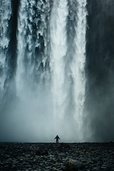 Overwhelming Skogafoss (marinaweishaupt) Tags: skogafoss waterfall iceland nature water person standing landscape massive