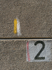 2 (queue_queue) Tags: chalk paint wall texture symbol number