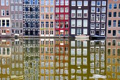 Dancing Houses (jpellgen (@1179_jp)) Tags: canal canals water ams amsterdam holland netherlands travel nikon 2018 august sigma 1770mm d7200 europe european architecture damrak dancinghouses amsterdamcanals