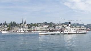 steamboat DS Gallia & Schiller on Lake Lucerne Vierwaldstättersee Luzern Switzerland 2018