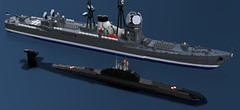 Thuja and Waurkjanhuarn (Awesome-o-saurus) Tags: lego submarine victorclass nuclear attack
