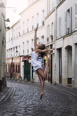 (dimitryroulland) Tags: nikon d600 85mm 18 dimitryroulland naturel light montmartre urban street france paris jump dance dancer pointe natural performer art