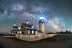 Milky Way over Highland Light (BenjaminMWilliamson) Tags: astrophotography capecod coast highlandlight landscape lighthouse massachussetts milkyway newengland night scenic sky truro