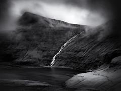 Saksun Waterfall (Feldore) Tags: faroeislands faroe saksun mist misty fog foggy waterfall house valley remote feldore mchugh em1 olympus 1240mm moody ethereal bay