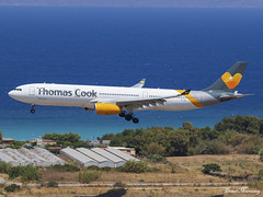 Thomas Cook Scandinavia A330-300 OY-VKI (birrlad) Tags: rhodes rho international airport greece aircraft aviation airplane airplanes airline airliner airlines airways arrival arriving approach finals landing runway airbus a330 a333 a330300 a330343 oyvki thomas cook scandinavia stockholm viking