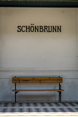 Schönbrunn (Robert Borden) Tags: schönbrunn vienna austria europe trainstop bench stilllife canon canonrebel canonphotography travel world globe street urban scene