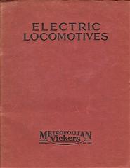 Metropolitan Vickers Catalogue 1938/9 - Front Cover (HISTORICAL RAILWAY IMAGES) Tags: metropolitan vickers catalogue locomotives railways