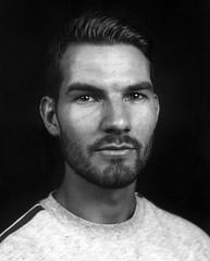 img212 (Adam Clark Photography) Tags: ilford ortho plus blackandwhite portrait male tones large format studio film analog analogue arca swiss light strobe flash darkroom
