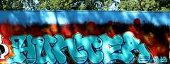 graffiti in Haarlem (wojofoto) Tags: haarlem nederland netherland holland graffiti streetart wojofoto wolfgangjosten hetlandje hof hunter