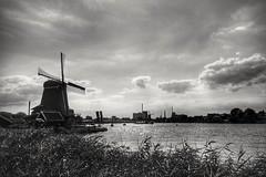 Windmill (wimkappers) Tags: blackwhitephotos bnw bw monochrome zaanseschans dutch holland scenery mill windmill clouds dramaticsky dramatic romantic