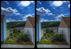 Building gap 3-D / CrossView / Stereoscopy / HDRaw (Stereotron) Tags: saxony sachsen vogtland reichenbach architecture europe germany deutschland sbs 3d photo image stereo spatial stereophoto stereophotography stereoscopic stereoscopy stereotron threedimensional stereoview stereophotomaker photography picture raumbild hyperstereo twin canon eos 550d remote control synchron kitlens 1855mm 100v10f tonemapping hdr hdri raw