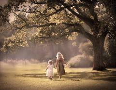 Sisters (olgafler) Tags: girl sisters tree green greendress