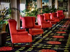 Inside the Grand Hotel. (kweaver2) Tags: kathyweaver mackinacisland mi lakehuron michigan grandhotel red chairs