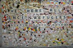 We Were All Once Refugees (beckybarnett303) Tags: israel israeli telaviv jaffa telavivyafo yafo tourist tourism tour guide fuji fujifilm fujifilmxseries jewish jew judaism sootc quotes quote words graffiti streetart street