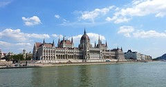 Budapest - Hungary (Silver Chew) Tags: europe budapest hungary river sky environment scenery water clear blue building