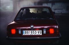 Monoplay_backstage (Nino Vasilkovskaya) Tags: film cinestill800 cinestill canon1n serbia belgrade backstage music video bmw red