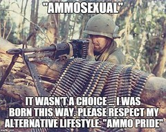 This is the type of #politicallycorrect identifiers we need to start!  Are you a little #ammosexual? (Sons of Liberty Tees) Tags: ammosexuals ammunition guns military veteran